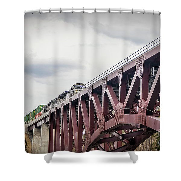 Train Over Letchworth Shower Curtain