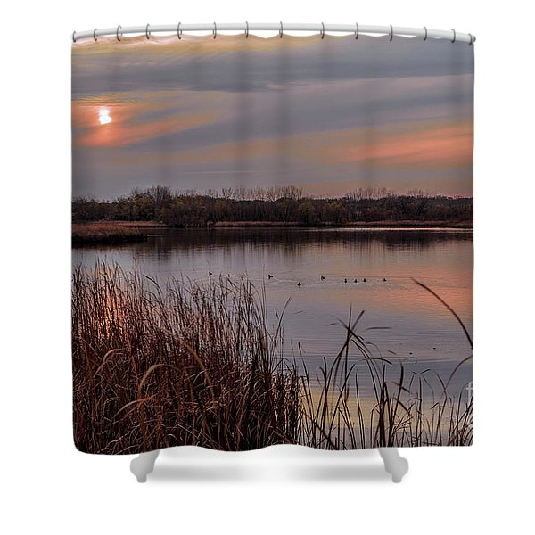 Tranquil Sunset Shower Curtain