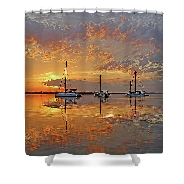 Tranquility Bay - Florida Sunrise Shower Curtain
