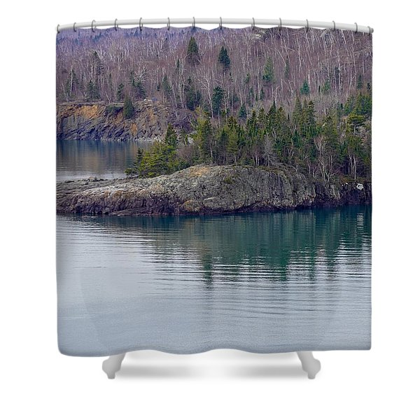 Tranquility In Silver Bay Shower Curtain