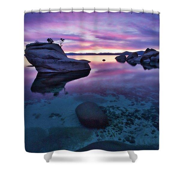 Transparent Sunset Shower Curtain