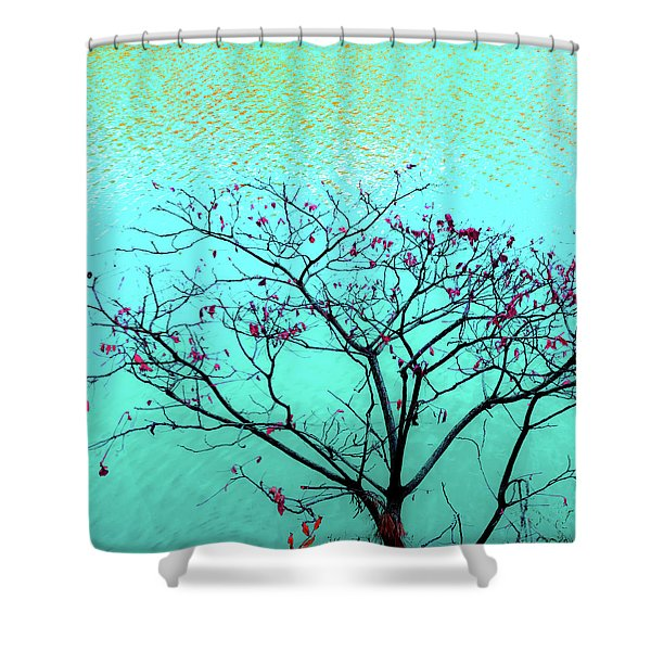 Tree And Water 1 Shower Curtain