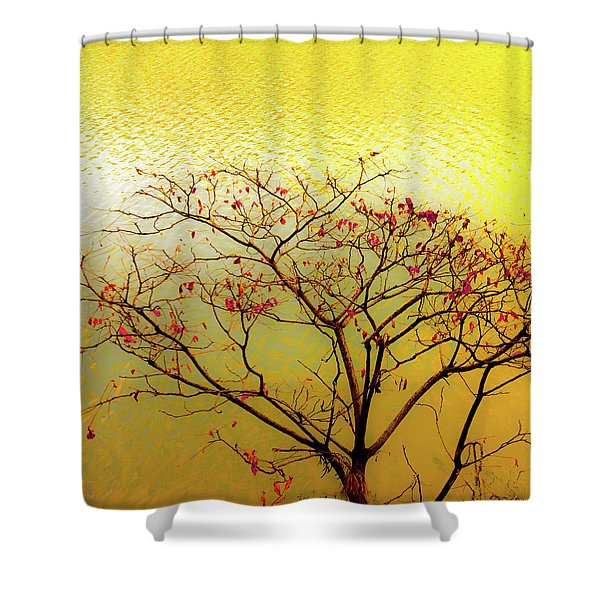 Tree And Water 2 Shower Curtain