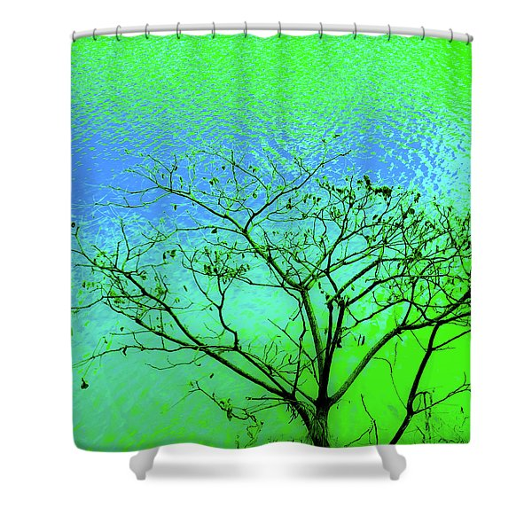 Tree And Water 3 Shower Curtain