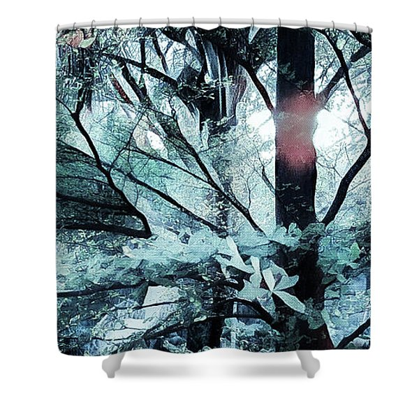 Tree Of Glass Shower Curtain
