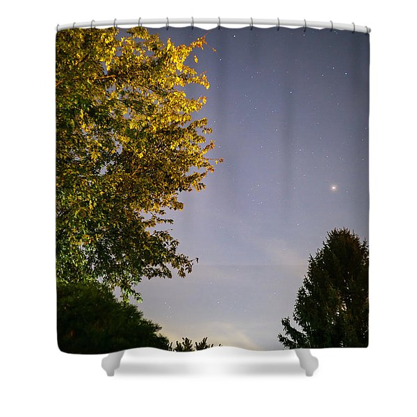 Trees And Stars Shower Curtain