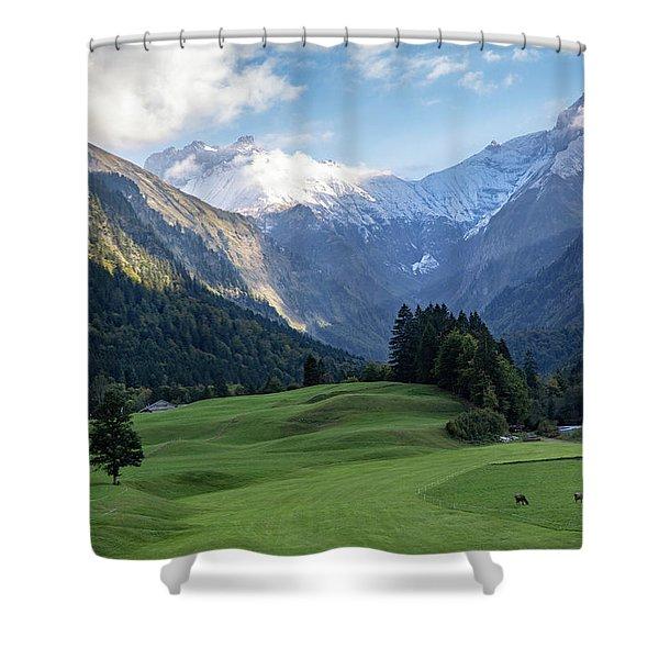 Trettachtal, Allgaeu Shower Curtain