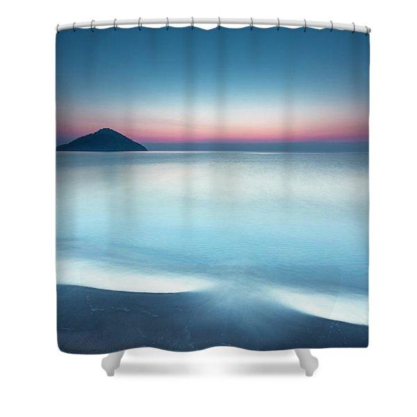 Triangle Island Shower Curtain