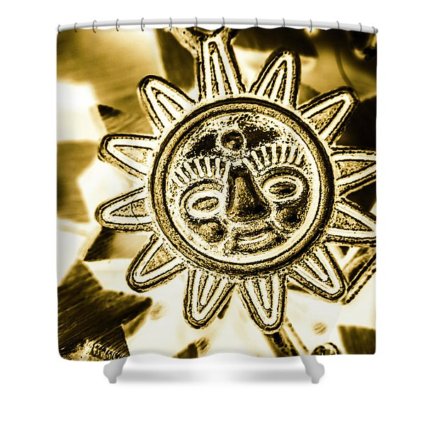Tribal Suns  Shower Curtain