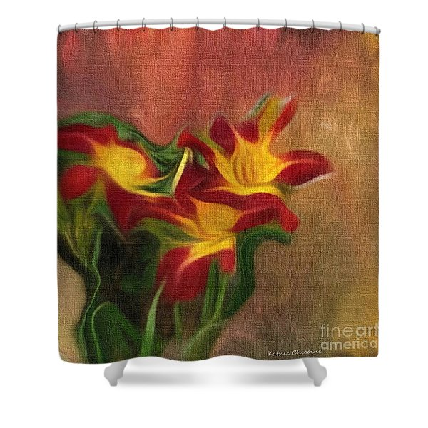 Trio Of Day Lilies Shower Curtain