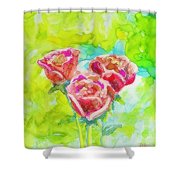 Trio Of Roses Shower Curtain