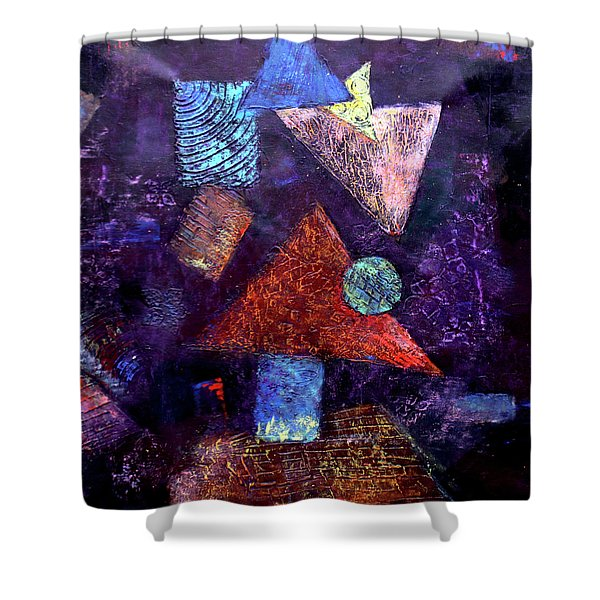 Trio Triangles  Shower Curtain