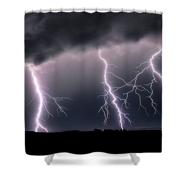 Triplets Cropped Shower Curtain