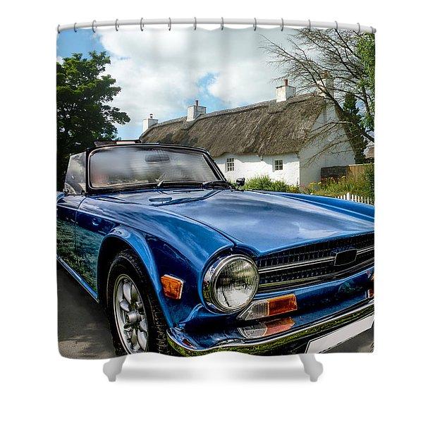 Triumph Tr6 Shower Curtain