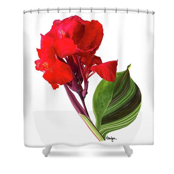 Tropical Bouquet-flower Three Shower Curtain