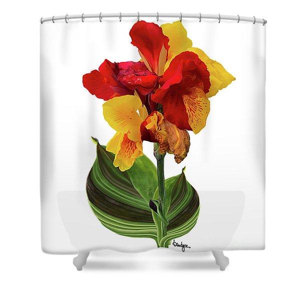 Tropical Bouquet-flower Two Shower Curtain
