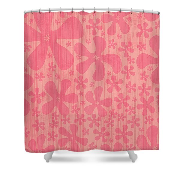 Tropical Floral Pattern Shower Curtain