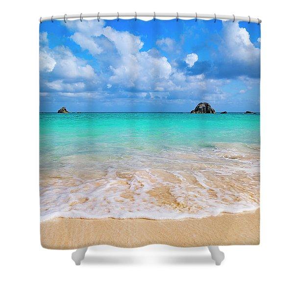 Tropical Paradise Beach Day  Shower Curtain