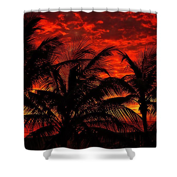 Shower Curtain featuring the photograph Tropical Sunrise by Meta Gatschenberger