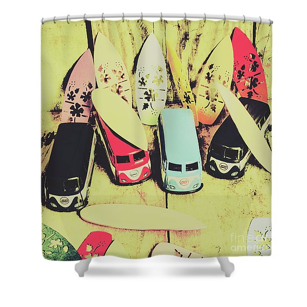 Tropical Trippers 1960 Shower Curtain