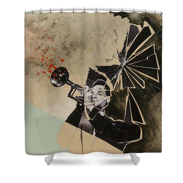 Trum-drum-pet Shower Curtain