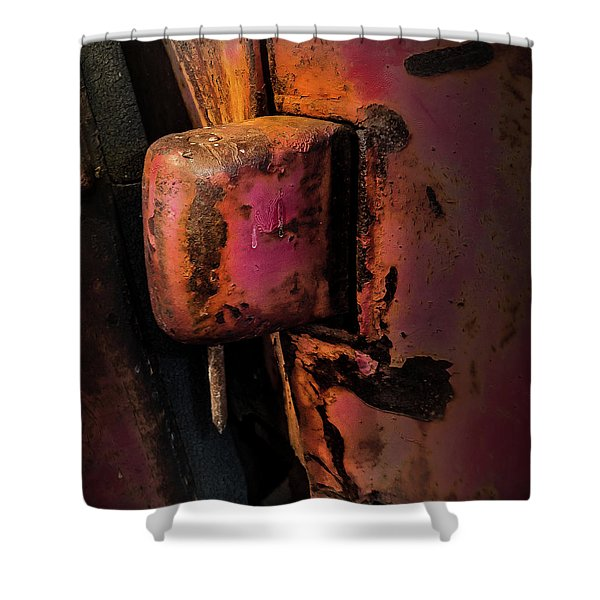 Truck Hinge With Nail Shower Curtain