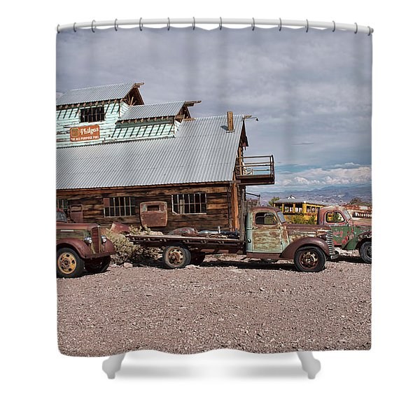 Trucks Lined Up In Nelson Shower Curtain