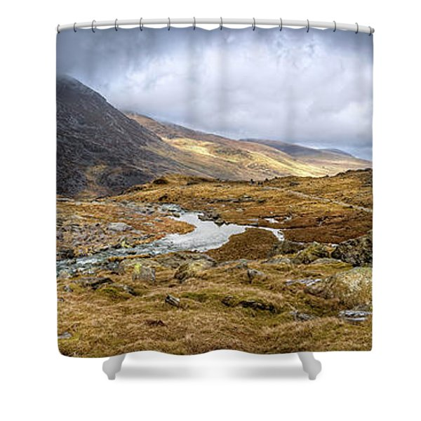 Tryfan And Pen Yr Ole Wen Mountain Snowdonia Shower Curtain