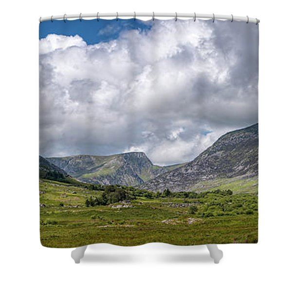 Tryfan Mountain East Face Wales Shower Curtain