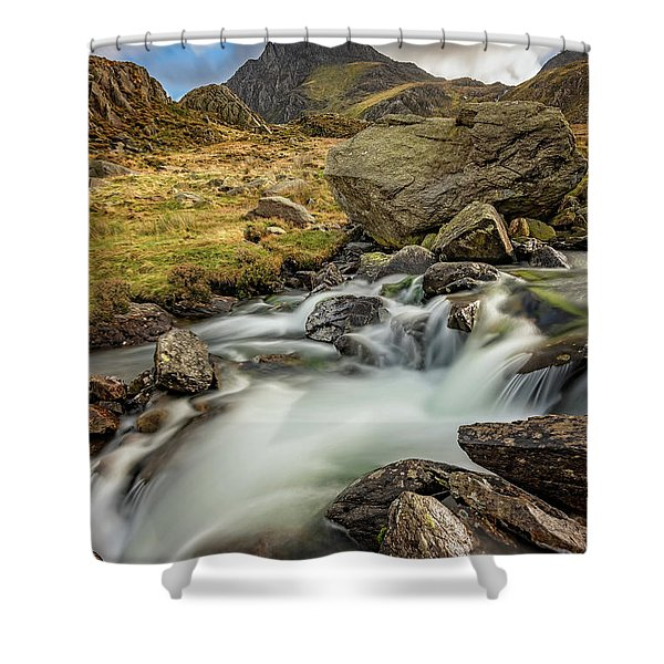 Tryfan Mountain North Wales Shower Curtain