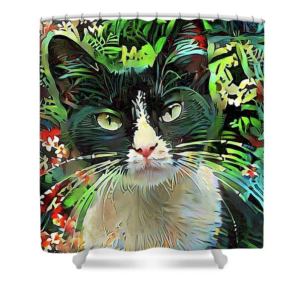 Tucker The Tuxedo Cat Shower Curtain