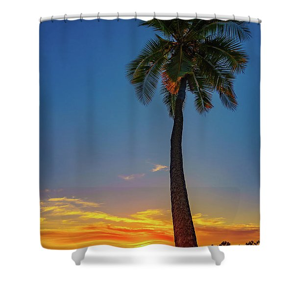 Tuesday 13th Sunset Shower Curtain