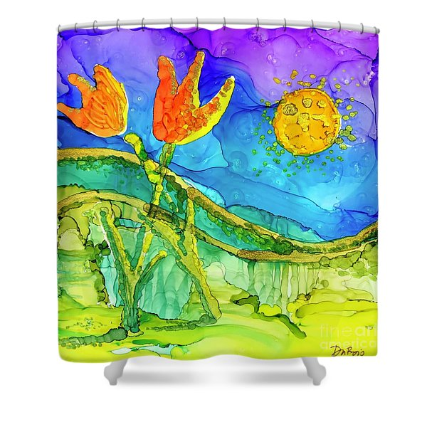 Tulip Hugs Shower Curtain