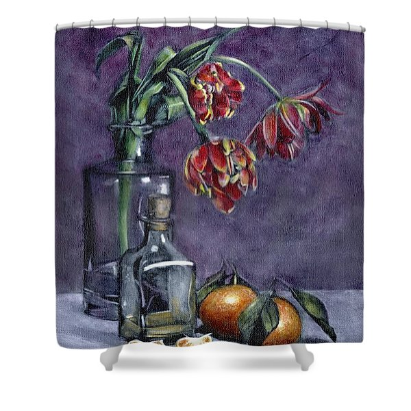 Tulips And Oranges Shower Curtain