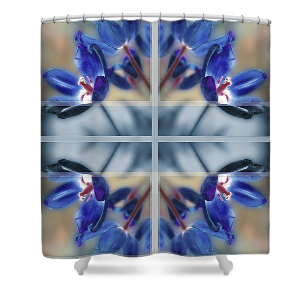 Tulips Of Stained Glass Shower Curtain