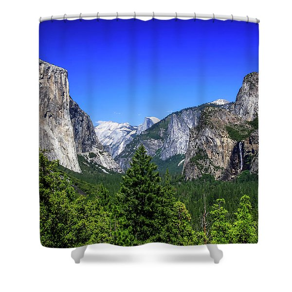Shower Curtain featuring the photograph Tunnel View Of Yosemite 2 by Dawn Richards