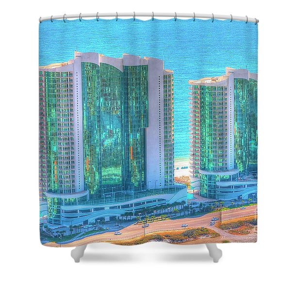 Turquoise Place Shower Curtain