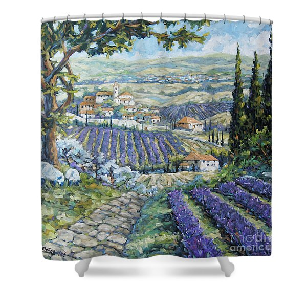 Tuscan Lavender Valleys By Prankearts Shower Curtain