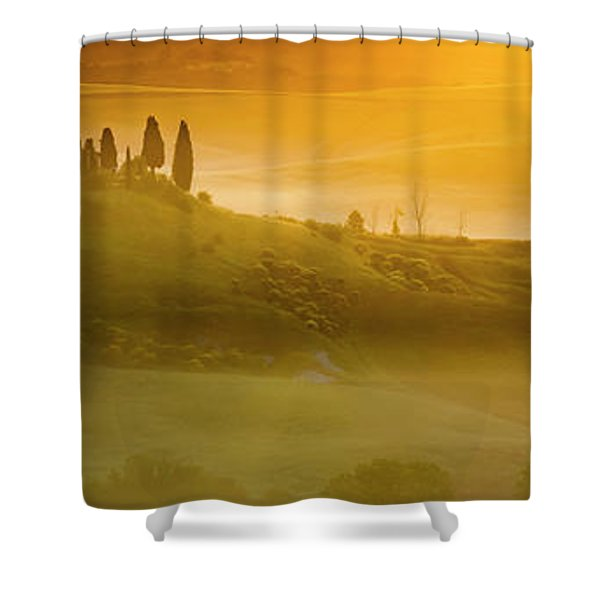 Tuscany In Gold Shower Curtain
