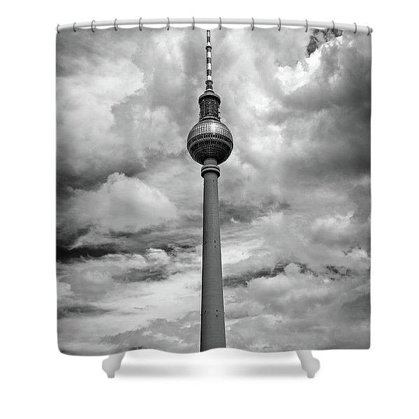 Tv Tower In Berlin Shower Curtain
