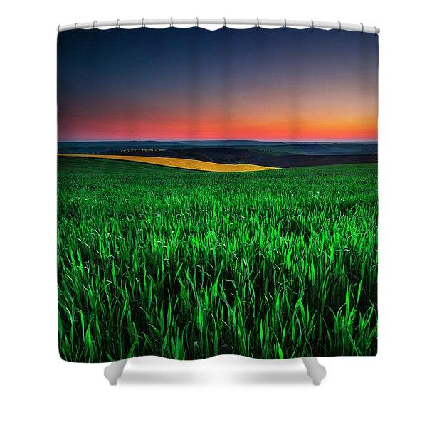 Twilight Fields Shower Curtain