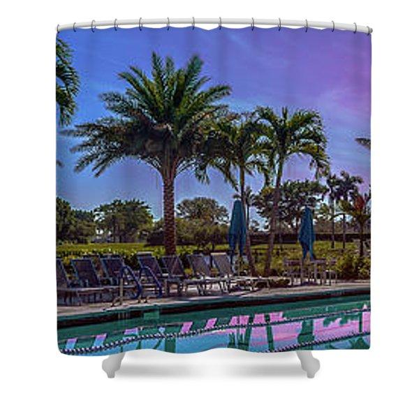 Twilight Pool Shower Curtain