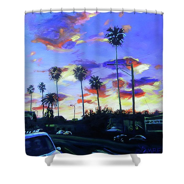 Twilight At Figueroa And 40th  Shower Curtain