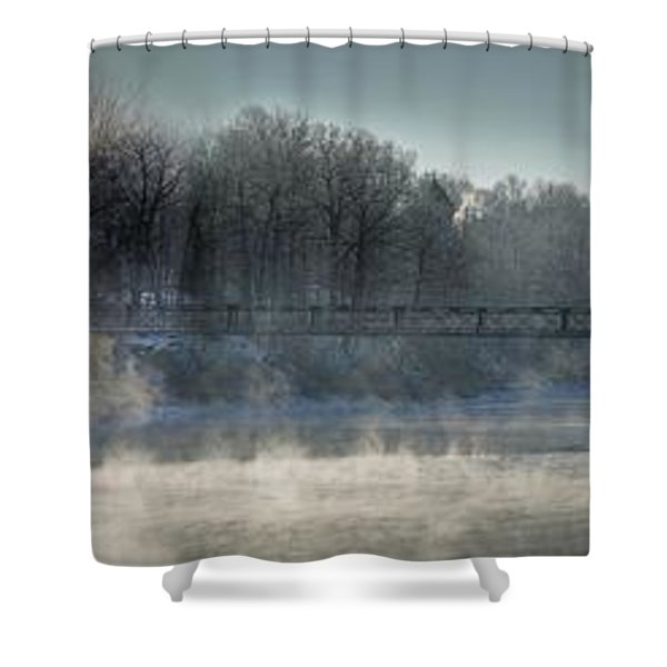 Two Cent Bridge At -5f Shower Curtain