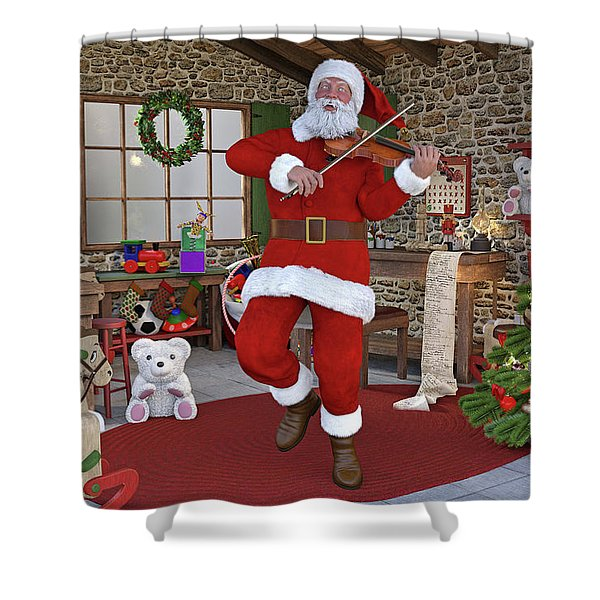 Two Nights Before Christmas Shower Curtain