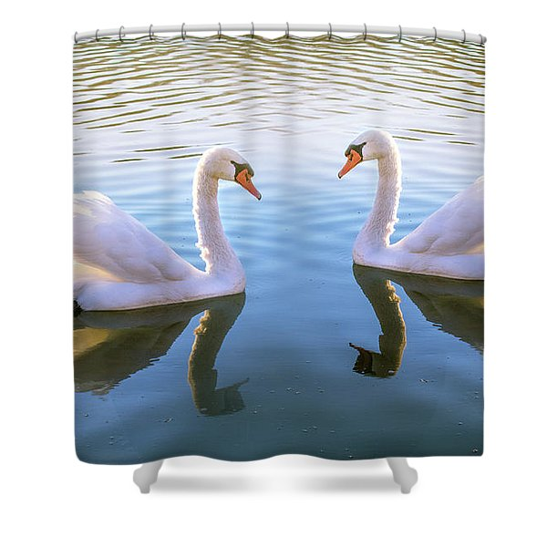 Two Of Them Shower Curtain