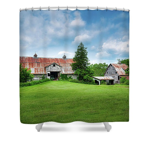 Two Old Barns Shower Curtain