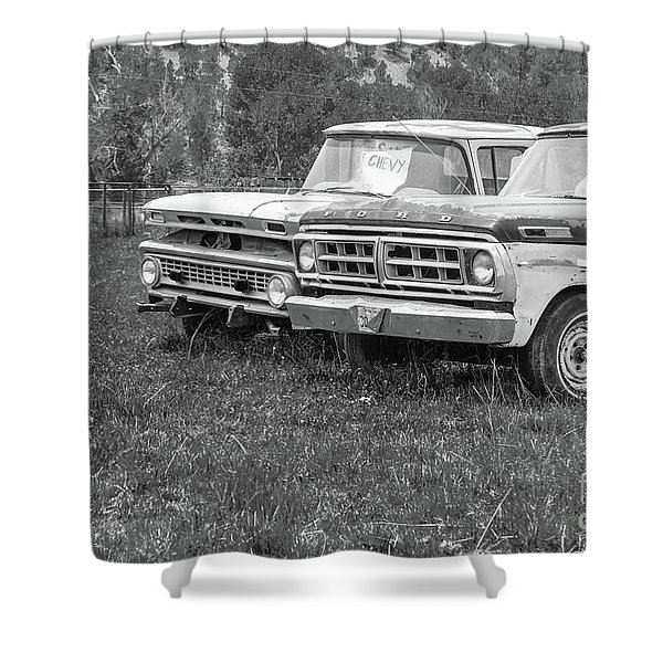 Two Old Pickup Trucks Utah Shower Curtain