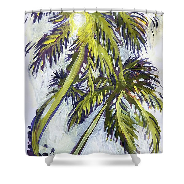 Two Palm Sketch Shower Curtain