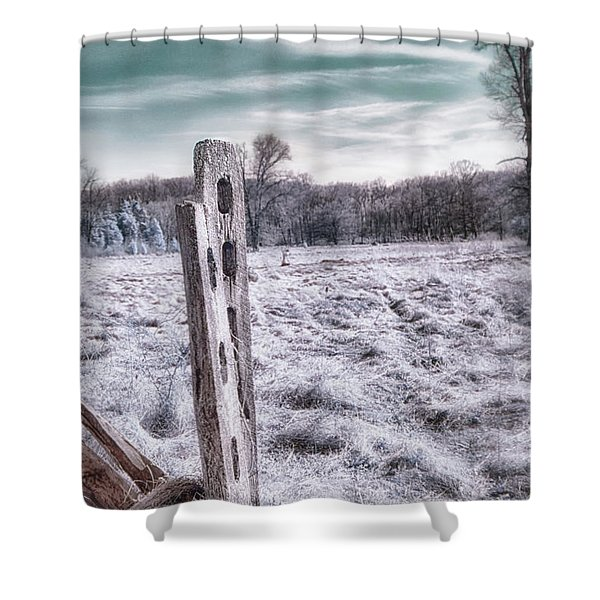 Two Posts Shower Curtain